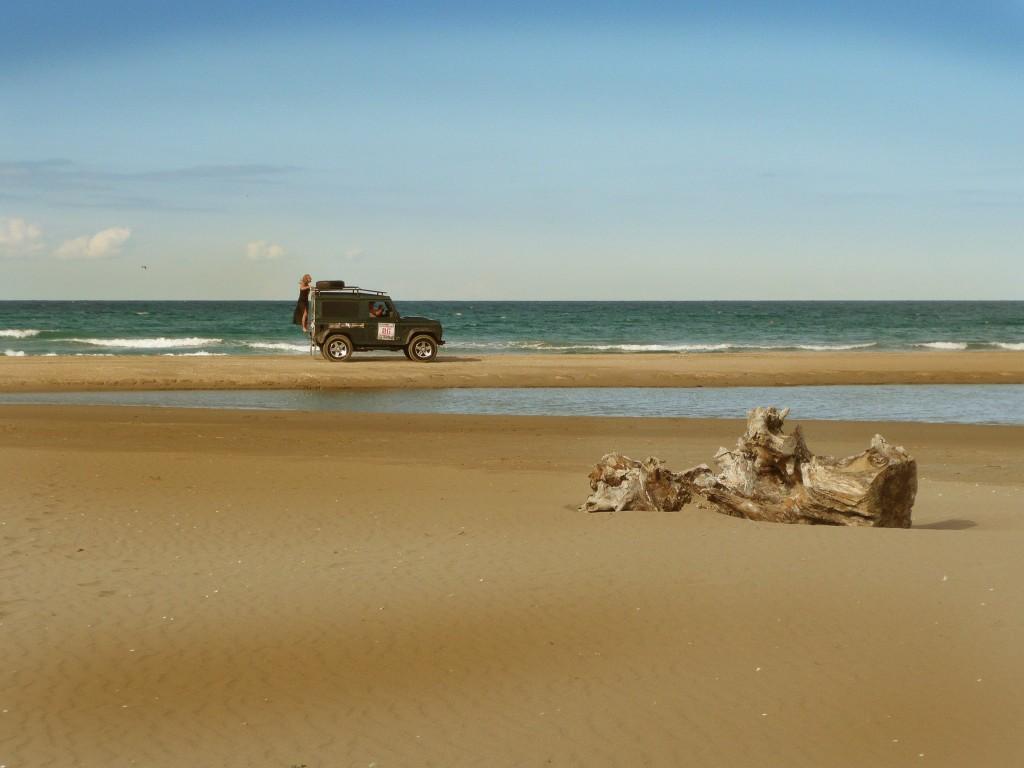 driving the caucasus on sinop beach