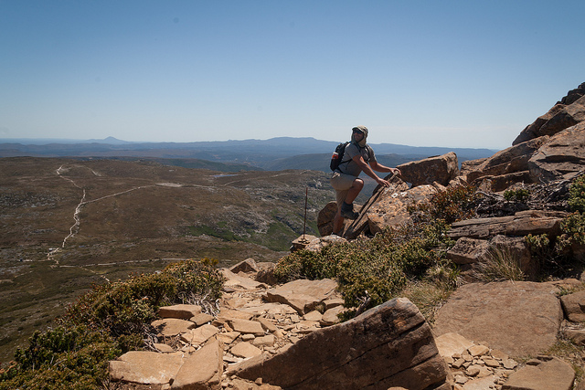 Rock climbing in Tasmania (photo by Tim Lucas)