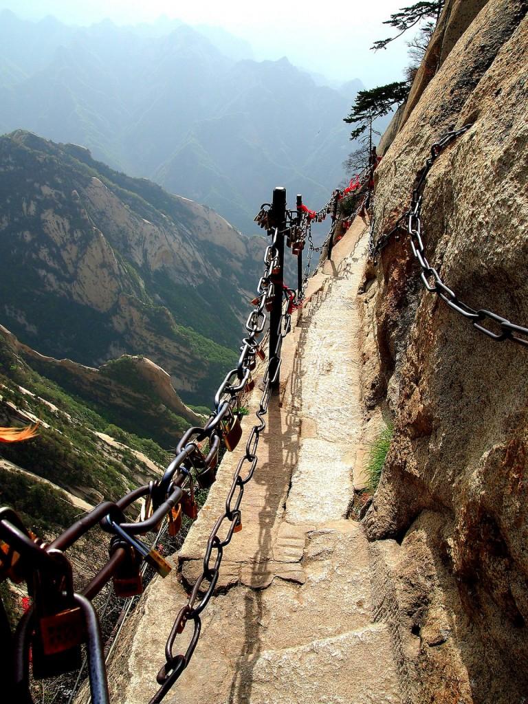 most dangerous hikes Mount Hua Shan