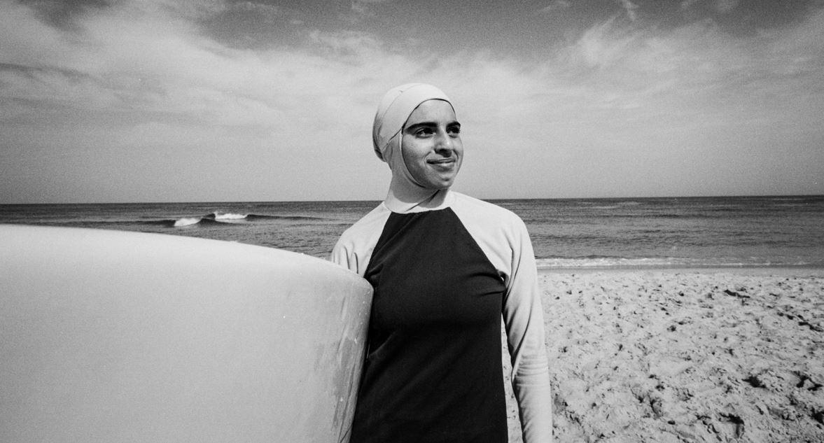 Female member of the Gaza Strip Club in her burkini (Photo by Alice Martins)