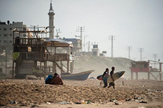 Surfing in Gaza (Photo credit: Gaza Surf Club)