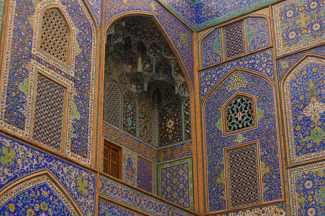 Niche of the Shah Mosque, Isfahan (photo by Blondinrikard Fröberg)