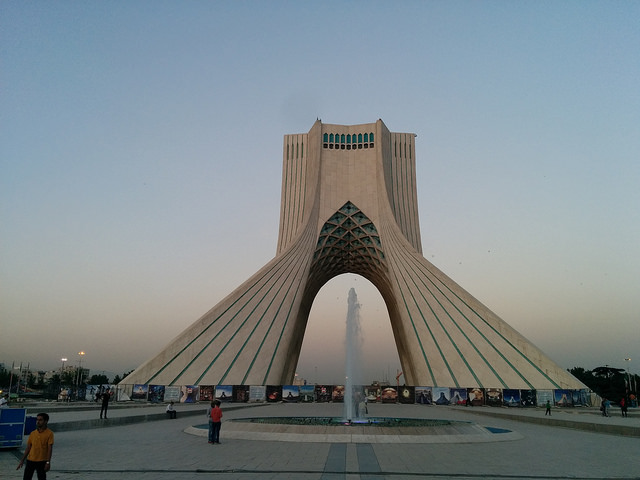 Azadi Tower, Tehran, Iran (photo by Michael Bumann)