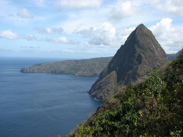 View of Petit Piton, St. Lucia (photo by James McCoy)