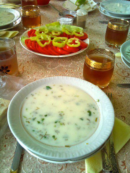 Armenian yogurt soup (photo by author)