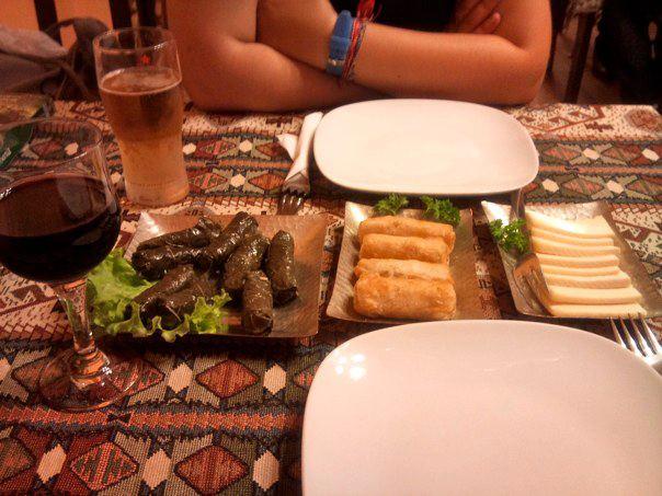 Armenian Dinner (photo by author)
