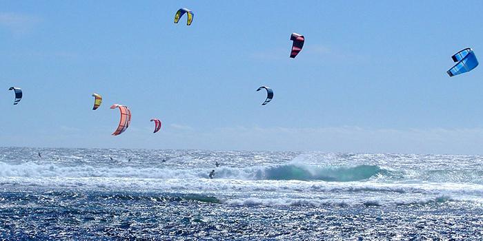 Kite Surfing in Ada Bojana