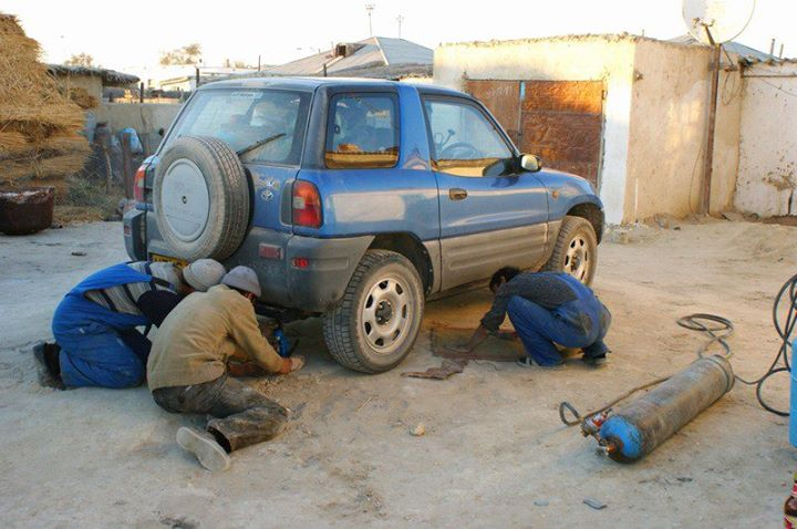 Maybe you will get lucky and find a mechanic or 3 in Uzbekistan (photo by Central Asia Rally)