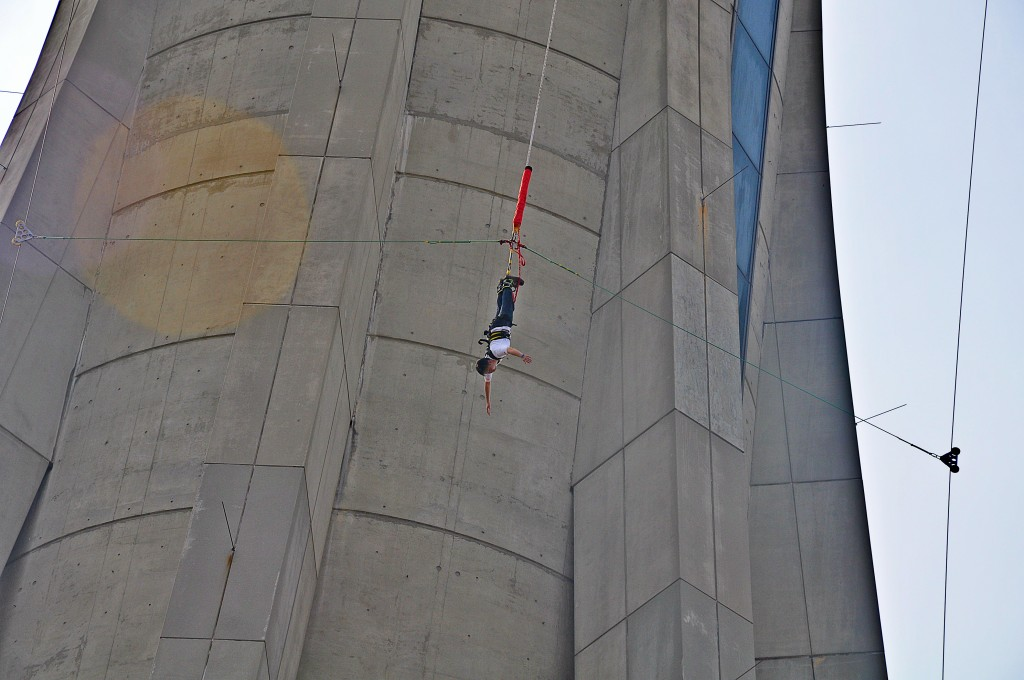 Bungee jump off a building