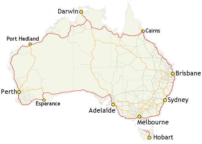 big lap of Australia