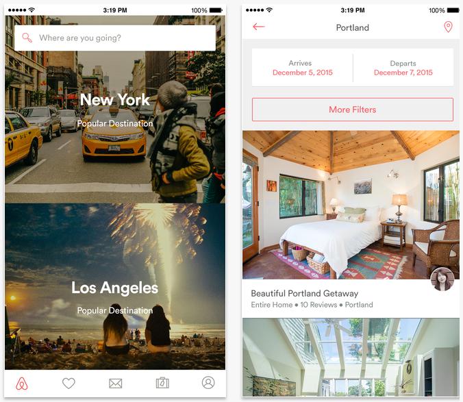 Air BNB travel apps