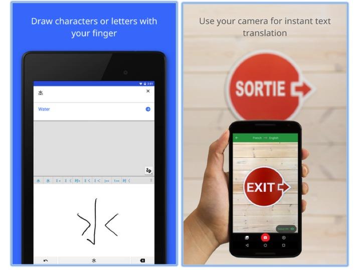 Google Translate travel apps