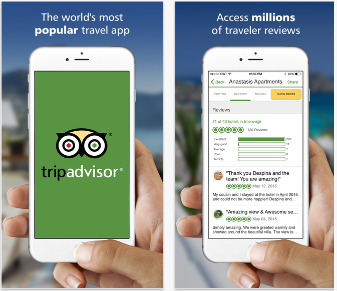 TripAdvisor Travel Apps