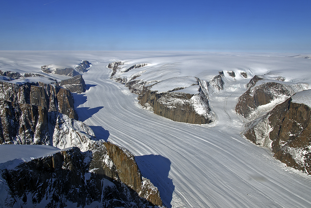 Penny Ice Cap outlet glacier on Baffin Island.